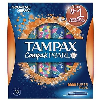 Tampax Compak Pearl Assorbenti Interni Super Plus con Applicatore ...