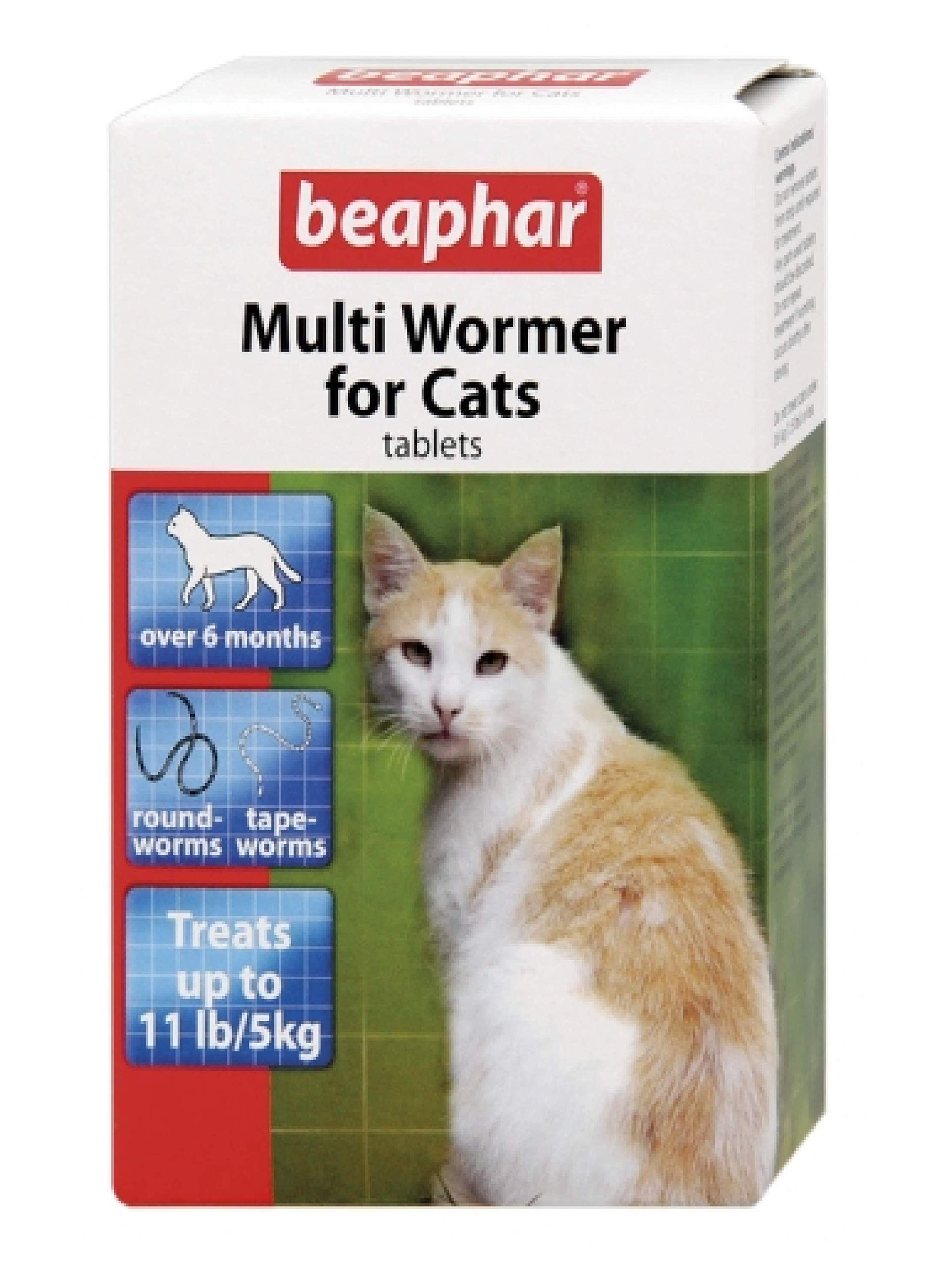 Leeway Beaphar – MULTI WORMER FOR CATS – ROUND & TAPE WORM X3