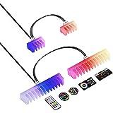 EZDIY-FAB Peine de Cable RGB-peines LED RGB de 2X 24 Pines y 6X 8 Pines para la gestión de Cables con Control de RF