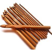 Top4pc Aiguilles Crochet à Tricoter en Bambou - Kit de 12 Tailles - pour Le Crochet, Le Tricot et Tous Types de Fil de…