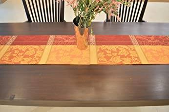 Wineberry Jacquard Design Table Runner - Size 14x70 Inches - 1pc