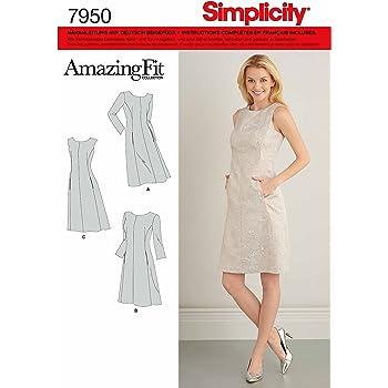 Simplicity 7926.R5 Schnittmuster Top mit Schößchen (Damen, Gr. 40 ...