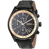 Hugo Boss Mens Quartz Watch, Analog Display and Leather Strap 1513550