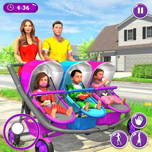 Neue Mutter Baby Drillinge Familie Simulator - Simulator Baby