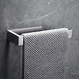 CCKOLE Porte-serviettes sans perçage en acier inoxydable 304 - Autocollant - Pour salle de bain - Argenté brossé - Sans perça