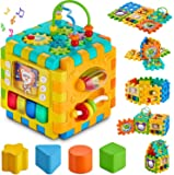 Galaxy Hi-Tech Baby Activity 6 in 1 Shape Sorter Cube Toddler Toys Centers Educational Music Play Preschool Toy for 1…