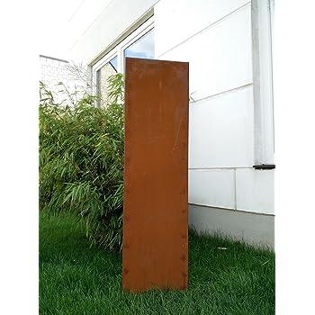 Garten Sichtschutz Aus Metall Rost Gartenzaun Gartendeko Edelrost  Sichtschutzwand PF0021 125*35*2CM