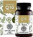 NATURE LOVE® Coenzym Q10 Hochdosiert - Mit 200mg pro Kapsel. 120 vegane Kapseln im 4 Monatsvorrat. Aus pflanzlicher Fermentation. Hochdosiert & hergestellt in Deutschland