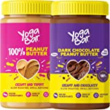 Yogabar Peanut Butter Combo | Pure Peanut Butter | Dark Chocolate Peanut Butter | 400gm Each