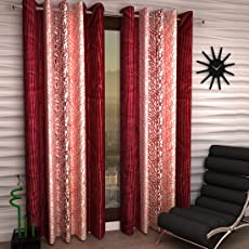 Home Sizzler Maroon Curtain