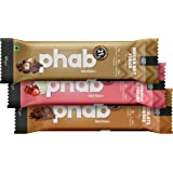 Phab Protein Bar – 21g protein, No Preservatives, No Artificial Sweeteners, Zero Trans Fats: Pack of 6x 65g (Variety Pack)