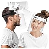 HARD Vizier gezichtsbescherming 10 x houder met 20 x verwisselbaar vizier, openklapbaar gezichtsmasker met dubbelzijdige anti