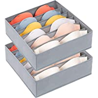 DIMJ Organisateur Tiroir, Lot de 2 Boîte de Rangement Sous Vetement Pliable à 6 Compartiments, Sac de Rangement Pour…