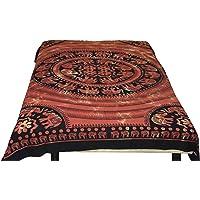 Healing Crystals India Cotton Hippy Indian Mandala Wall Hanging Bohemian Throw Decor Bedspread Tapestries(Yellow)
