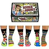 United Oddsocks - Lot De 6 Chaussettes Homme - Multicolore, Sock Addict Taille EUR 39-46