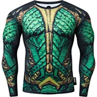 Nessfit Mens Compression Superhero Top Base Layer Gym Long Sleeve Running Thermal Sweatshirt Workout
