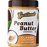 Earthnut Classic Peanut Butter Crunchy 1 KG | Non GMO | Gluten Free | Made With 100% roasted peanuts | Vegan | Zero Cholester