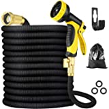 """BBwin Garden Hose Expandable 50FT Flexible Anti-leak Water Hose Pipe with 3/4"""" Fittings 10 Function Spray Nozzles for Yard Wa"""