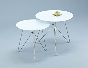 Aspect alegro round sidecoffeeendlamp table wood white set aspect alegro round sidecoffeeendlamp table wood white mozeypictures Gallery