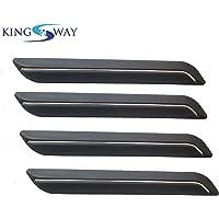 Kingsway Bumper Corner Protector / Guard for Mahindra Scorpio (Old Model) (Black Color, Set of 4, Single Chrome Line)