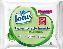 Lotus Aloe Vera - Papier Toilette humide - Lot de 6 paquets de 42 feuilles