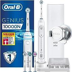 Oral-B Genius 10000N Elektrische Zahnbürste, mit Zahnfleischschutz-Assistent und Premium Lade- Reise-Etui, weiß