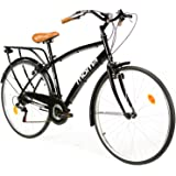 MOMA BIKES City 28 Fahrrad, Schwarz One Size
