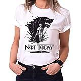 Tee Kiki Not Today II - Maglietta da Donna Girocollo Targaryen Thrones Game of Stark Lannister Baratheon Daenerys Khaleesi TV