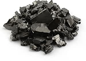 Russia 50g naturesupplies Shungite Elite Stone Chips Authentic Shungite From Karelia Noble Elite Shungite Metallic Silver Appearance For Water Filtering and Cleansing Detox