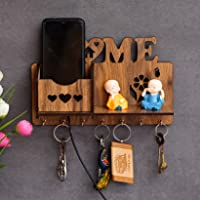 Key Holder for Wall Stylish Wooden Key Holder for Home and Office by Gajkarna Creations (Home)