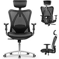 mfavour Siège Confortable Chaise de Bureau Fauteuil Ergonomique avec Accoudoirs Réglable Hauteur Appui-tête Ajustable…