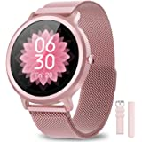 NAIXUES Smartwatch Mujer Reloj Inteligente IP68 con 24 Modos de Deporte, Pulsómetro, Monitor de Sueño, Notificaciones Intelig