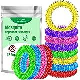 Entligent Mückenschutz Armband [12 Stück], Mückenarmband 100% Natürlich, DEET-Frei, Insektenschutz Armbänder für Kinder…