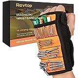 Rovtop Magnetische polsband voor het vasthouden van schroeven met sterke magneten voor het vasthouden van schroeven, nagels,