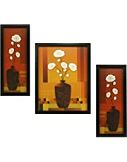 Indianara 3 PC Set of Floral Paintings