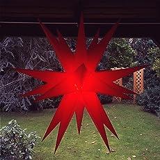 Adventsstern/Weihnachtsstern / Aussenstern - wetterfester Stern m. 60cm Durchmesser inkl. 4m Kabel u. Stecker