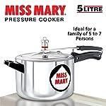 Hawkins Miss Mary Aluminium Pressure Cooker, 5 litres, Silver