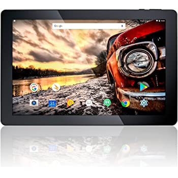 """10.1"""" Fusion5 Android 7.0 Nougat 32GB 104+ Tablet PC - (MediaTek Quad-Core, GPS, Bluetooth 4.0, FM, 1280*800 IPS Display, Google Certified Tablet PC) - Dec 2017 Release (32GB)"""
