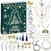 iZoeL Adventskalender Frauen Schmuck 2020 Schmuckkalender Weihnachtskalender Mädchen 24 tolle Überraschung wie Halskette…