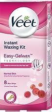 Veet Instant Waxing Kit for Normal Skin, 8 strips