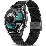 TagoBee Smartklocka för män kvinnor 1,3 tum helpekskärm smartwatch fitnessmätare med pulsmätare kaloriräknare, IP67 vattentät