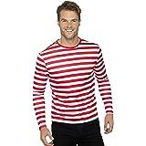"""Smiffys-46830L Camiseta de payaso siniestro de manga larga, Color rojo, L - Tamaño 42""""-44"""" (Smiffy's 46830L , color/modelo su"""