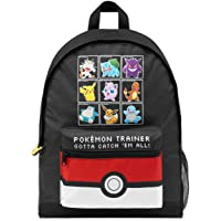 Pokemon School Bag, Kids Backpack with Detective Pikachu and Pokemon Ball, Large Rucksack with Reversible Sequin Design…