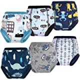 Flyish Absorbent Potty Training Pants 6 Packs Toddler Training Underwear for Boy and Girl 2-6 Years