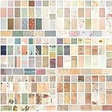 Futongda Papier Décoratif Feuilles de Papier Diy Papier Décoratif d'Artisanat de Bricolage 480 différentes Tailles et Formes
