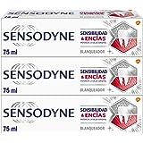 Sensodyne Sensibilidad & Encías Pasta de Dientes Blanqueante con Flúor para Aliviar la Sensibilidad Dental y Eliminar las Man