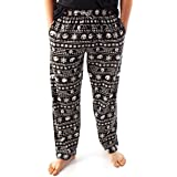 Disney Nightmare Before Christmas Loungepants For Men | Adults Jack Skellington Pyjama Trousers | Black Drawstring PJ Bottoms