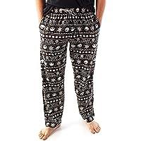 Disney Nightmare Before Christmas Loungepants For Men | Adults Jack Skellington Pyjama Trousers | Black Drawstring PJ…