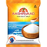 Aashirvaad Salt, 1kg, Iodised Salt Made from Natural Sea Salt Crystals