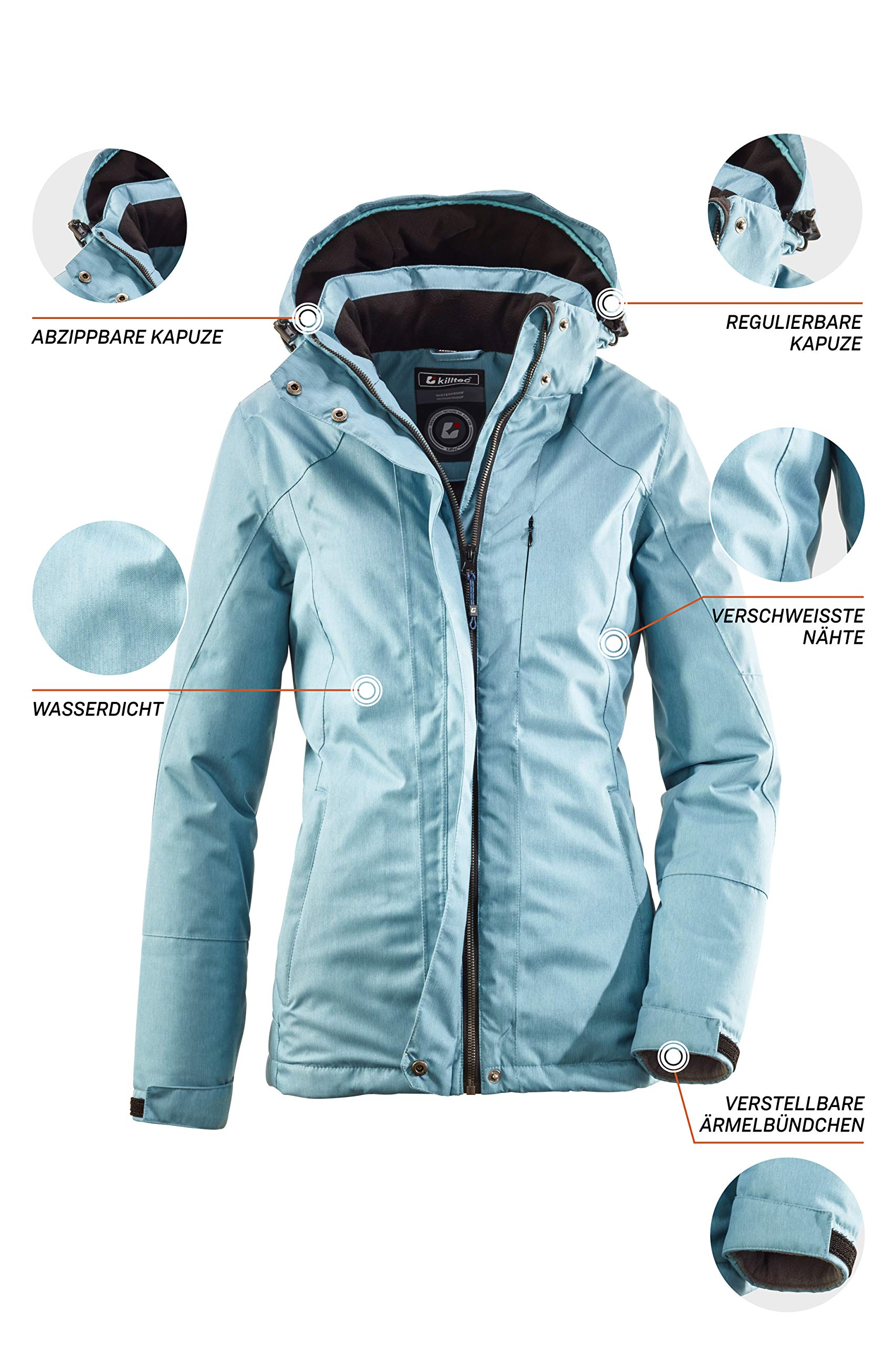 81NsHjSvfGL - killtec Women's Zala Functional Jacket with Zip-Off Hood